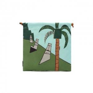 Текстильная косметичка Loewe. Цвет: зелёный