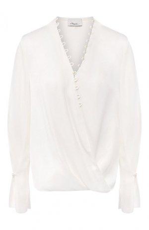 Блузка из вискозы 3.1 Phillip Lim. Цвет: белый
