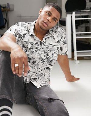 Разноцветная рубашка с короткими рукавами Stay Tuned-Мульти Globe