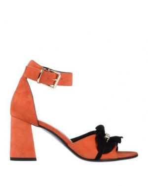 Сандалии LE DANGEROUGE. Цвет: оранжевый