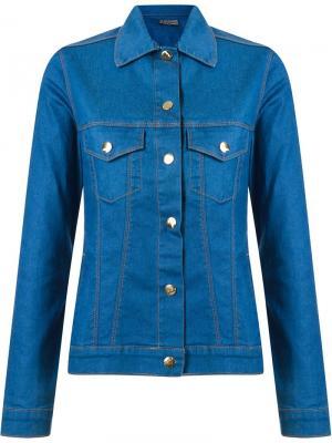 Джинсовая куртка с заостренным воротником Amapô. Цвет: синий