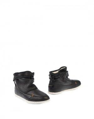 Полусапоги и высокие ботинки HUB. Цвет: черный