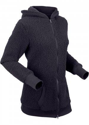 Куртка из плюшевого флиса bonprix. Цвет: серый