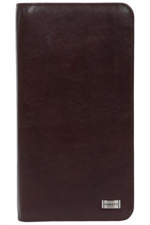 Визитница Fabretti. Цвет: коричневый