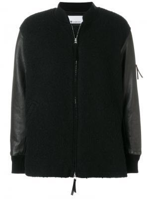 Вязаная куртка-бомбер T By Alexander Wang. Цвет: черный
