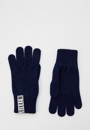 Перчатки Bikkembergs NAVY. Цвет: синий