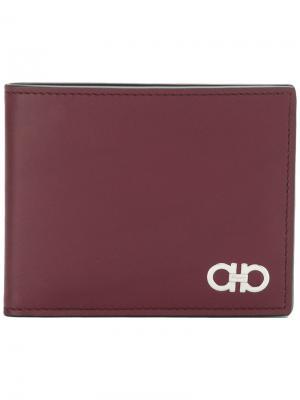Классический бумажник Salvatore Ferragamo. Цвет: красный