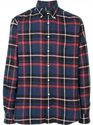 Рубашка оксфорд в клетку Gitman Vintage. Цвет: синий
