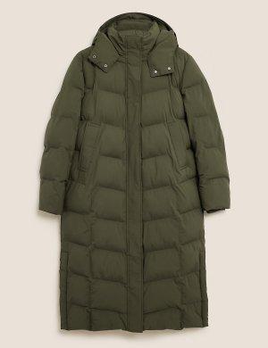 Пальто пуховик с отделкой rmowarmth ™ M&S Collection. Цвет: папоротник