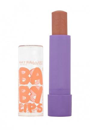 Бальзам для губ Maybelline New York Baby Lips, Персик, восстанавливающий и увлажняющий, с бежевым оттенком запахом, 1,78 мл. Цвет: бежевый