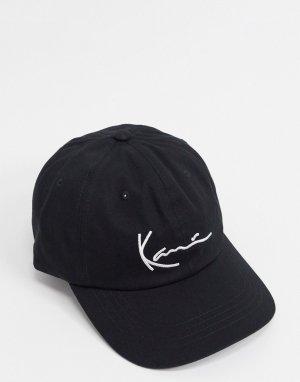 Черная кепка с логотипом -Черный Karl Kani