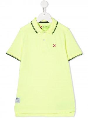 Рубашка поло с нашивкой-логотипом Mc2 Saint Barth Kids. Цвет: желтый