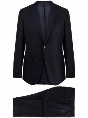 Костюм с однобортным пиджаком Boss Hugo. Цвет: синий