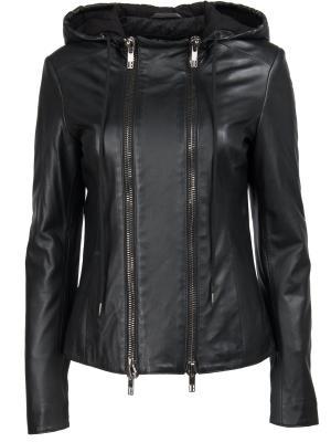 Кожаная куртка Dirk Bikkembergs. Цвет: черный