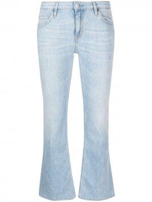 Укороченные расклешенные джинсы Haikure. Цвет: синий