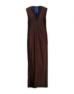 Длинное платье ROQUE ILARIA NISTRI. Цвет: темно-коричневый
