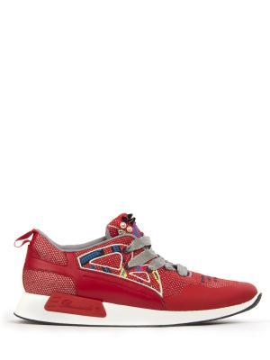 Комбинированные кроссовки Barracuda. Цвет: красный