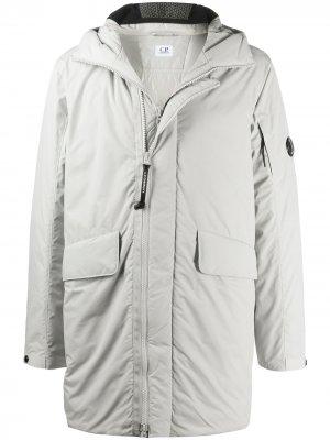 Hooded parka coat C.P. Company. Цвет: серый