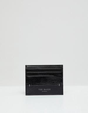 Подарочный набор: бумажник и визитница Taglee Ted Baker. Цвет: черный