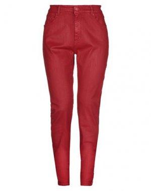 Джинсовые брюки CARE LABEL. Цвет: красный