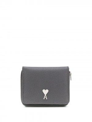 Маленький кошелек с монограммой Ami De Coeur Paris. Цвет: серый