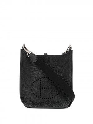 Сумка на плечо 2016-го года Evelyne TPM pre-owned Hermès. Цвет: черный