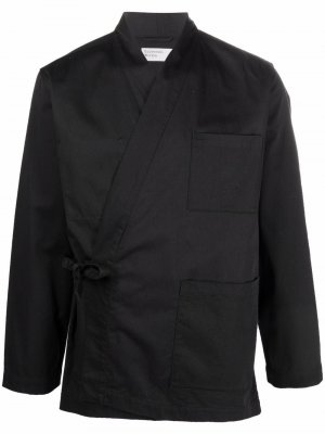 Side-tie fastening jacket Universal Works. Цвет: черный