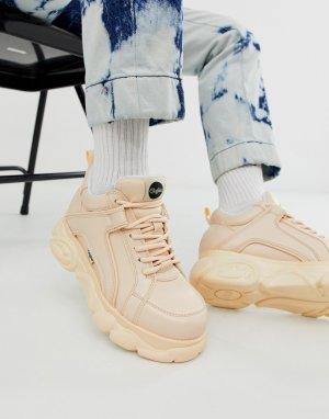 Розовые кроссовки на низкой платформе Buffalo