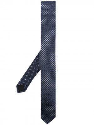 Галстук с узором Dolce & Gabbana. Цвет: синий