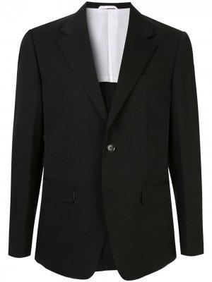 Блейзер с зазубренными лацканами CK Calvin Klein. Цвет: черный