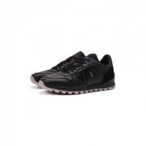 Кожаные кроссовки Bogner. Цвет: чёрный