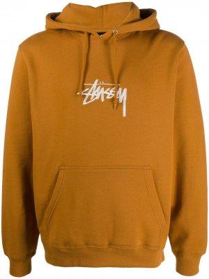 Худи с логотипом Stussy. Цвет: коричневый