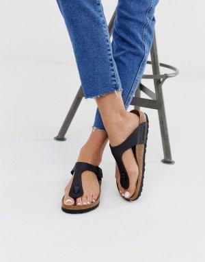Черные сандалии с перемычкой между пальцами Gizeh-Черный Birkenstock