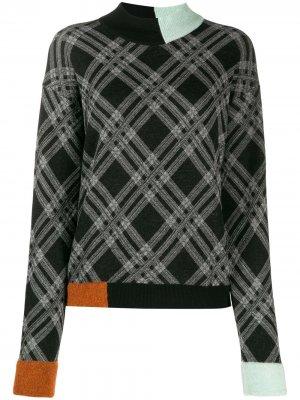 Джемпер в стиле колор-блок Antonio Marras. Цвет: черный