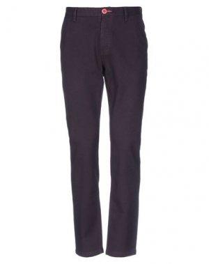 Повседневные брюки FRED MELLO. Цвет: баклажанный