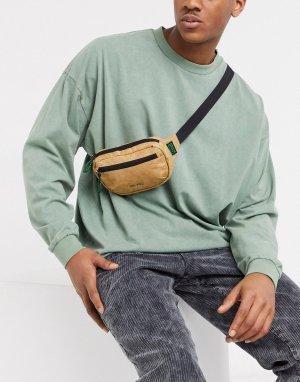 Светло-коричневая сумка-кошелек на пояс -Коричневый Mi-Pac