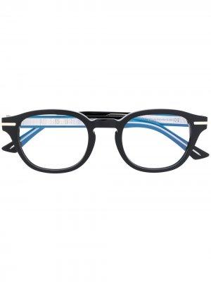 Очки в овальной оправе Cutler & Gross. Цвет: черный