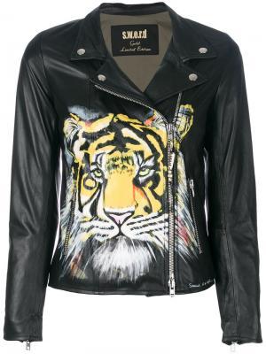 Tiger patch biker jacket S.W.O.R.D 6.6.44. Цвет: чёрный