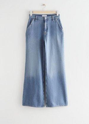 Широкие свободные джинсы &Other Stories. Цвет: синий