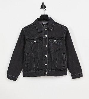 Черная джинсовая куртка в стиле oversize -Черный цвет Missguided Petite