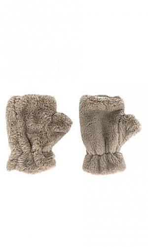 Варежки ariel Apparis. Цвет: серо-коричневый