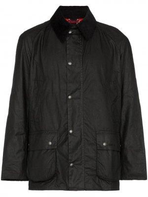 Вощеная куртка Ashby Barbour. Цвет: черный