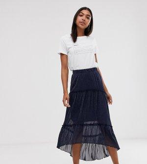 Ярусная юбка макси -Темно-синий Minimum