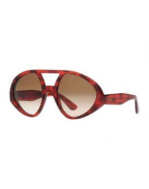 Солнечные очки VALENTINO. Цвет: красно-коричневый