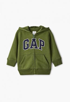 Толстовка Gap. Цвет: зеленый