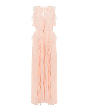 Платье AX33 40 персиковый Anna Rachele. Цвет: персиковый