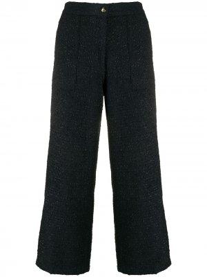 Твидовые расклешенные брюки Etro. Цвет: синий