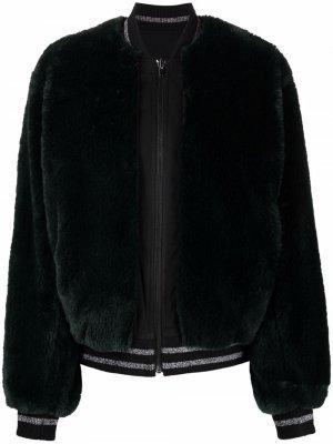 Бомбер с пайетками Karl Lagerfeld. Цвет: черный