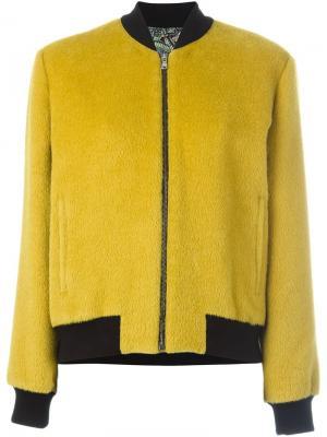 Куртка-бомбер с контрастной отделкой Etro. Цвет: зелёный