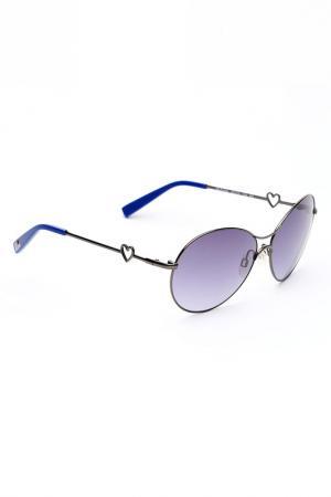 Солнцезащитные очки Love Moschino. Цвет: синий
